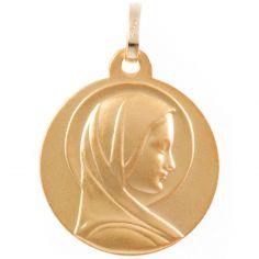 Médaille Vierge au halo personnalisable (or jaune 750°)