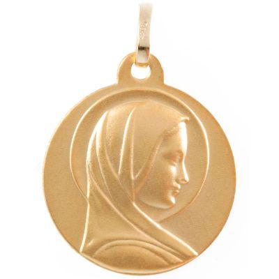 Médaille Vierge au halo personnalisable (or jaune 750°)  par Aubry-Cadoret