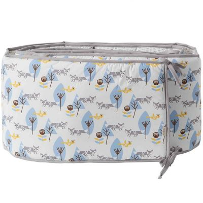 tour de lit renard bleu pour lits 60 x 120 cm et 70 x 140 cm par fresk. Black Bedroom Furniture Sets. Home Design Ideas