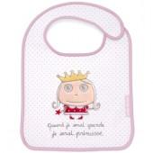 Bavoir à velcro Quand je serai grande je serai princesse - Isabelle Kessedjian