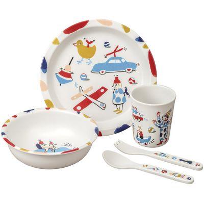 Coffret repas en mélamine Les jouets de Marie (5 pièces) Maison Petit Jour