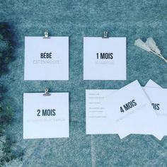 Cartes photos souvenirs étapes minimalistes (12 cartes)