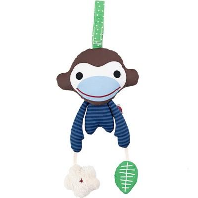 Jeu d'éveil à suspendre Asger le singe bleu en coton bio  par Franck & Fischer