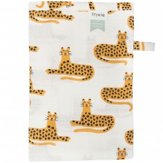 Lot de 3 gants de toilette en mousseline Cheetah