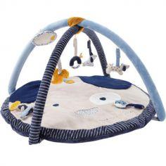 Tapis d'éveil en veloudoux avec arches Aston & Jack chien bleu (90 cm)