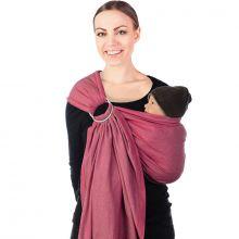 Echarpe de portage BB-Sling avec anneaux rose (2,1 mètres)  par Babylonia carriers