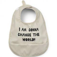 Bavoir à poche Change the World