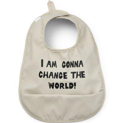 Bavoir à poche Change the World  par Elodie Details