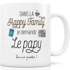 Mug en céramique Dans la Happy Family je demande le Papy