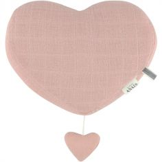 Coeur musical à suspendre Bliss rose