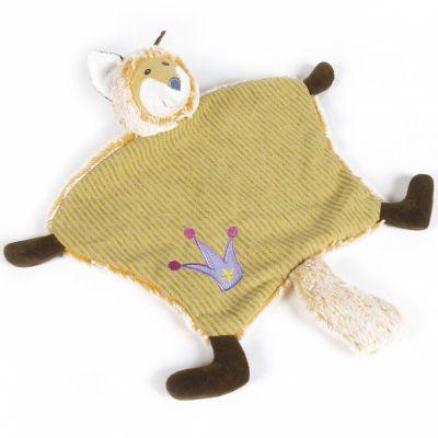 Doudou plat renard jaune (26 cm) Walking Mum