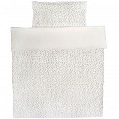 Housse de couette et taie pour lit bébé Confetti (110 x 140 cm)