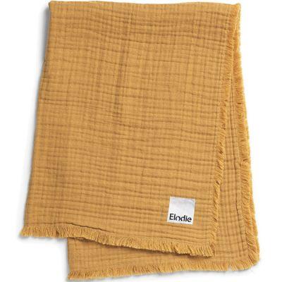 Couverture en coton froissé jaune Gold (70 x 100 cm)  par Elodie Details