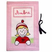 Protège-carnet de santé rose (personnalisable) - Les Griottes