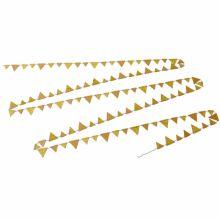 Guirlande de fanions dorée  par Arty Fêtes Factory