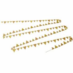 Guirlande de fanions dorée