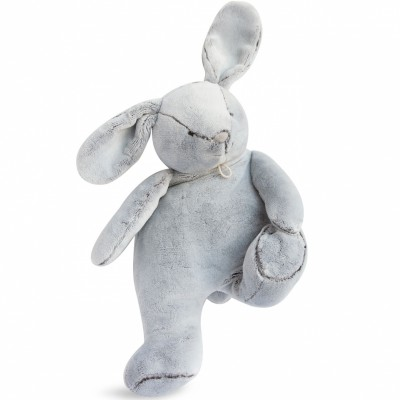 Peluche lapin gris (35 cm) Doudou et Compagnie