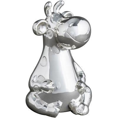 Tirelire Renne personnalisable (métal argenté)  par Daniel Crégut