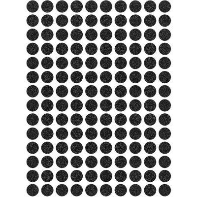 Stickers ronds glitter noir (18 x 24 cm)