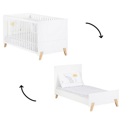 Lit bébé évolutif Little Big Bed Joy naturel (70 x 140 cm)  par Baby Price