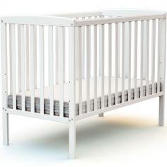 Lit à barreaux en bois de hêtre Confort blanc (60 x 120 cm)