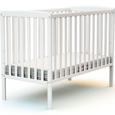 Lit à barreaux en bois de hêtre Confort blanc (60 x 120 cm)  par AT4