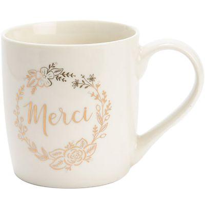 Mug Merci doré  par Amadeus Les Petits