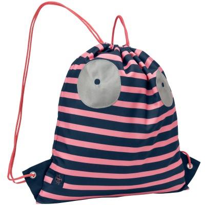 Sac à ficelles marin Little Monsters Mad Mabel corail  par Lässig