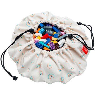 Sac à jouets 2 en 1 Mini rainbows  par Play&Go