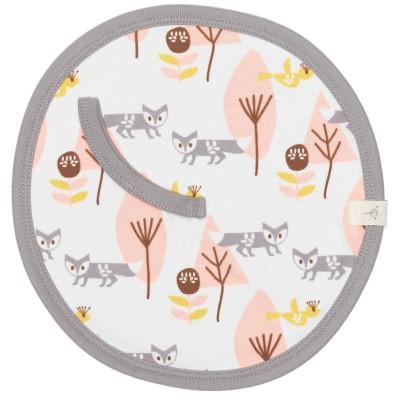 Doudou attache-sucette renard rose  par Fresk