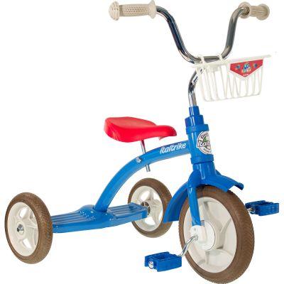 Tricycle Super Lucy avec panier avant 10'' bleu et rouge  par Italtrike