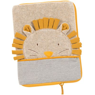 Protège carnet de santé crème Paprika le lion  par Moulin Roty