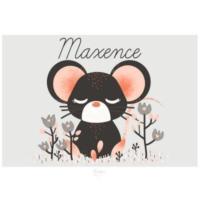 Affiche A4 Les Animignons la souris (personnalisable)  par Kanzilue