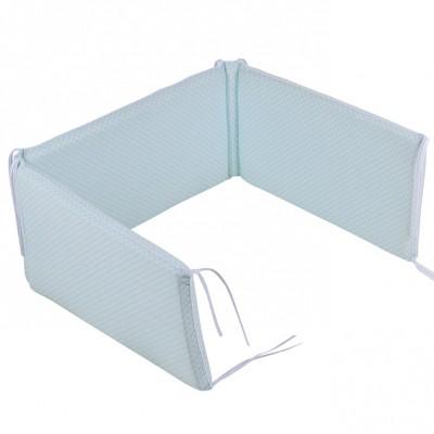 tour de lit sweet mint vert d 39 eau pour lits 60 x 120 et 70. Black Bedroom Furniture Sets. Home Design Ideas