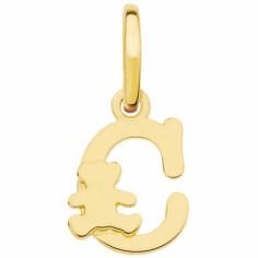 Pendentif initiale C (or jaune 375°)