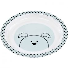 Assiette plate Little Chums chien  par Lässig