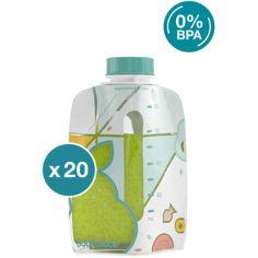 Pack de 20 gourdes réutilisables Foodii (175 ml)