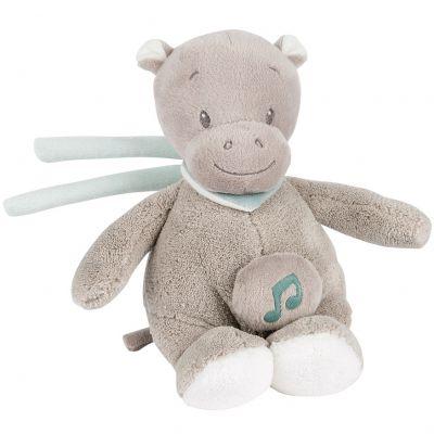 Mini doudou musical à suspendre hippopotame Hippolyte (24 cm) Nattou