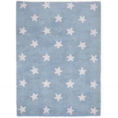 Tapis lavable Etoiles bleu (120 x 160 cm)