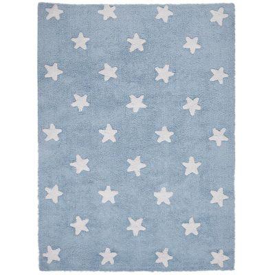 Tapis lavable Etoiles bleu (120 x 160 cm)  par Lorena Canals