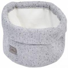 Panier de toilette en tricot Confetti gris (32 x 15 cm)