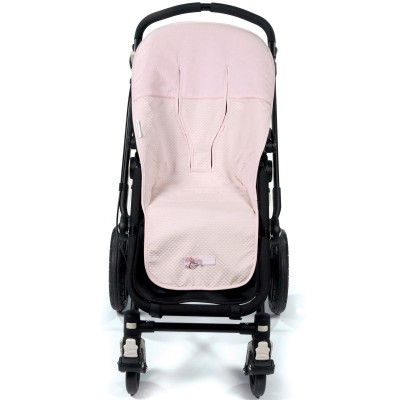Assise d'été universelle pour poussette New Cotton rose  par Pasito a pasito