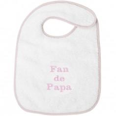 Bavoir à velcro fan de papa rose