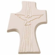 Petite croix Colombe confirmation blanche