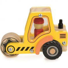 Camion rouleau compresseur en bois