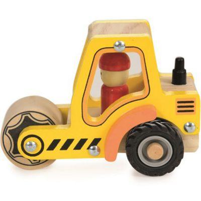 Camion rouleau compresseur en bois Egmont Toys