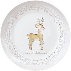 Assiette en porcelaine Renne (personnalisable)