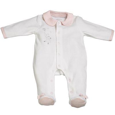 Pyjama chaud Lilibelle blanc (1 mois)  par Sauthon