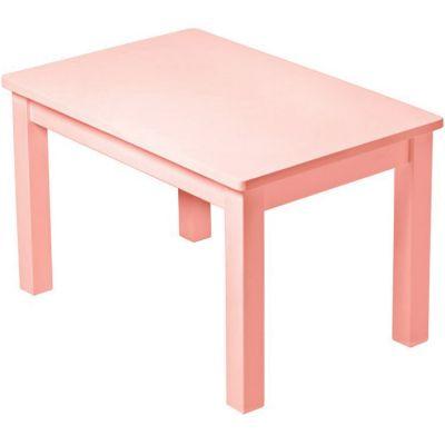 Table d'enfant en bois massif rose poudré Pioupiou et Merveilles