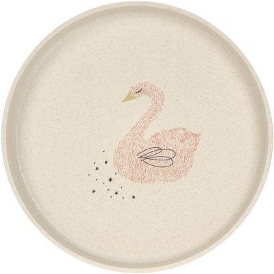 Assiette plate cygne Little Water  par Lässig